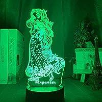 giyiohokナイトライト3Dスマートテーブルランプ幻覚抽象翼モデルタッチリモコン16色USB充電LEDナイトライト誕生日およびクリスマスパーティー用-n24-n27
