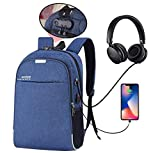 Hoteon Mobilife Business Laptop Water Resistant Anti-Theft Backpack with USB Charging Port