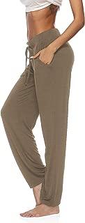 Womens Yoga Pants Wide Leg Comfy Drawstring Loose Straight Lounge Running Workout Legging
