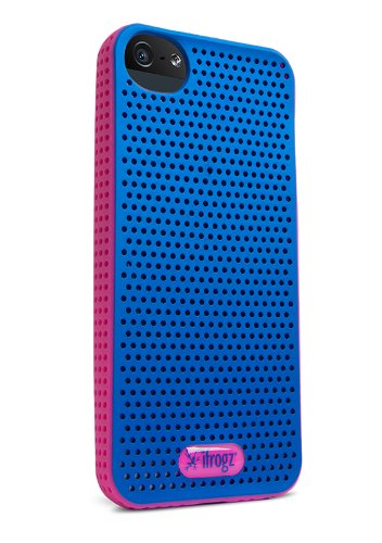 iFrogz Breeze Case for iPhone 5 - Retail Packaging - Blue/Pink
