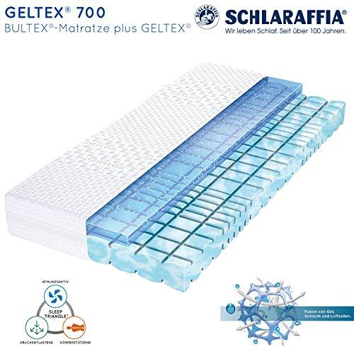 Schlaraffia Geltex 700 Bultex Matratze 140x200 cm H3 - GELTEX 700 Outfit - mit abnehmbaren Bezug, bis 60°C waschbar - Matratzenhöhe: ca. 22 cm
