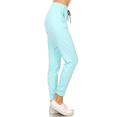 371e7060 Leggings Depot Women's Printed Solid Activewear Jogger Track Cuff Sweatpants  Inner Pockets