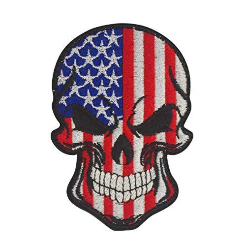 Cobra Tactical Solutions Drapeau US Tête de Mort Ecusson Bro