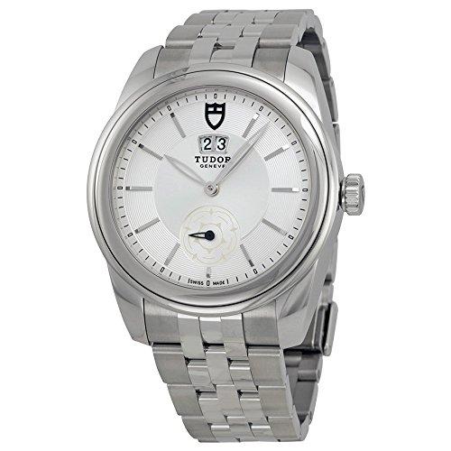 Tudor glamour meccanica argento quadrante in acciaio INOX 57000-svss