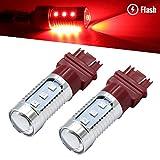 brakelight strobe module - Syneticusa 7443 Red LED Stop Brake Flash Strobe Rear Alert Safety Warning 12-LED Light Bulbs