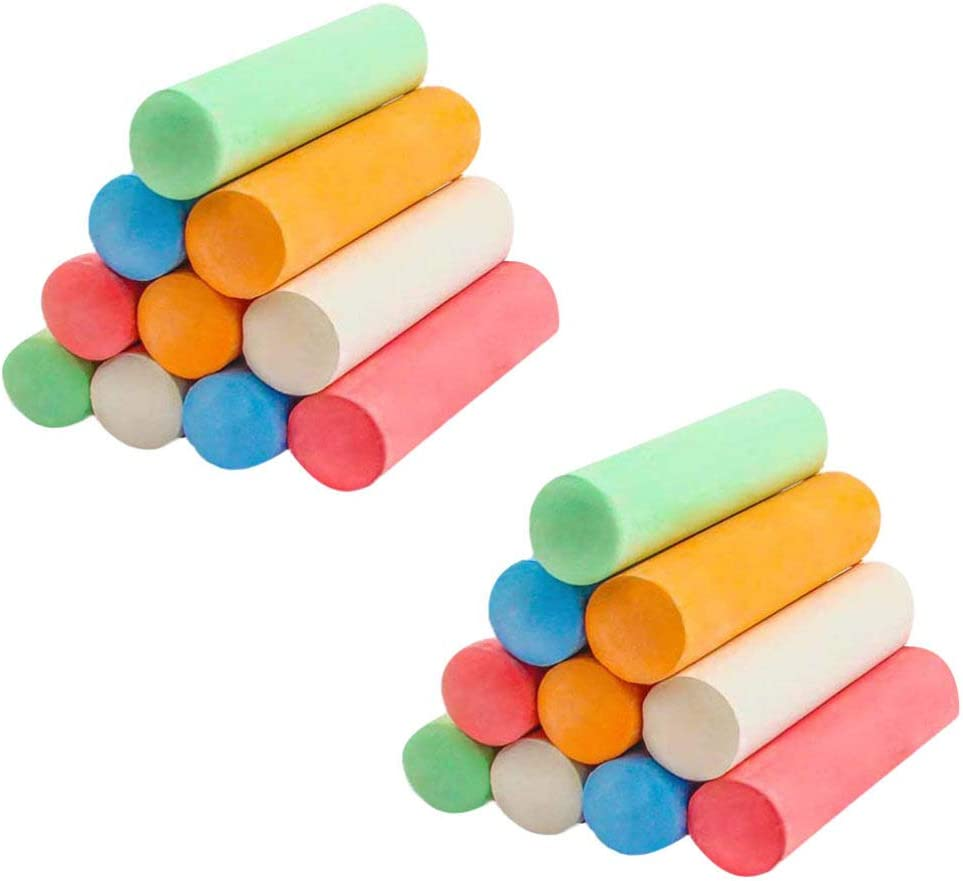 TOYANDONA Max Sales results No. 1 50% OFF 5 Color Jumbo Sidewalk Chalk with Kids Bucket for Set