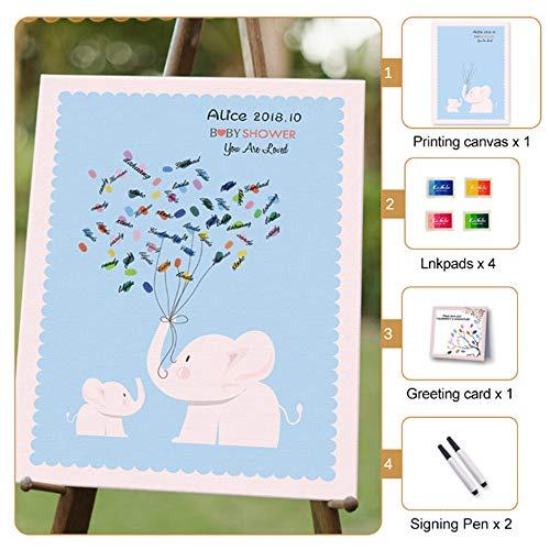 AXDNH Muñeco de Huellas Dactilares, DIY Wedding Party Signature Libro de visitas Creativo Decorativo de Huellas Dactilares de la Boda Árbol de Huellas Dactilares (Personalizado),L