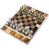 JJSFJH Ajedrez Juegos de Mesa Juegos Rompecabezas de ajedrez Ajedrez Internacional Establece for Adultos Moderno luz Creativa Junta de Metal de ajedrez Tamaño 47,5 X 34,5 X 9 cm