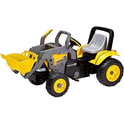 Peg Perego IGCD0552 Maxy Excavator - Bulldozer a pedali con catena, Per bambini dai 2 anni in su