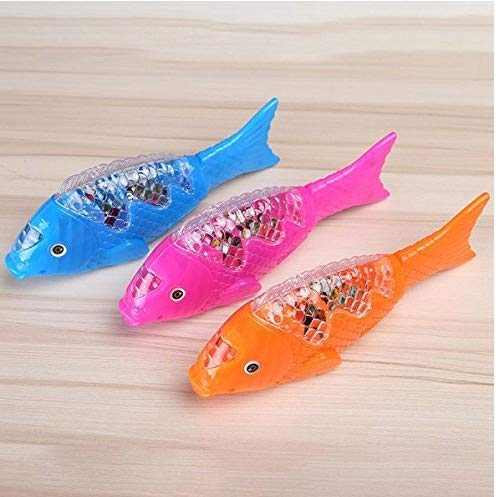 Gwill Farbe Kreative Spaß Projektion Elektrische 3 STÜCKE Spielzeug LED Musik Clownfish Robe Fisch Aquarium für Kind Kinder Mix Farbe