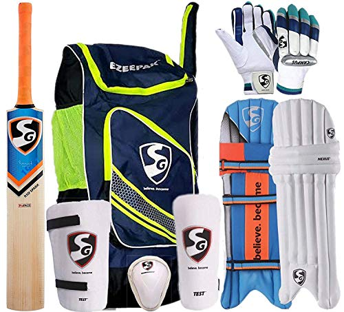 SG Full Cricket Kit with Ezeepak Bag, Size 6 (Ideal for 11 to 13 Years)