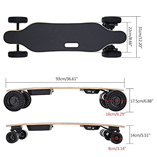 Kaluo Electric Skateboard Automatic Longboard, 22 MPH 13 Mile Range 1800W Motorized Skateboard...