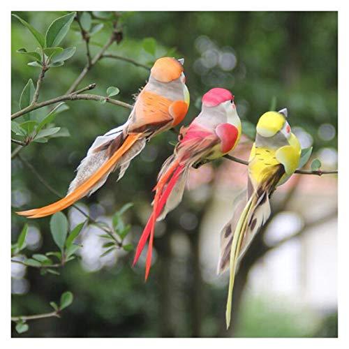 SMchwbc Artificial Partido de Aves de Plumas de simulación de Espuma Ornamento de los Artes Atrezzo decoración del hogar de la Boda del jardín (Color : Color Random)