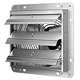 iPower 7 Inch Shutter Exhaust Fan Aluminum,High Speed, 1680 RPM, 760 CFM, Silver