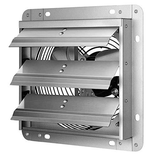 iPower 7 Inch Shutter Exhaust Fan Aluminum,High Speed, Silver