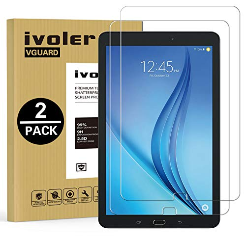 iVoler [2 Pack] Vetro Temperato Compatibile con Samsung Galaxy Tab E/Tab E Nook 9.6 Pollici (SM-T560), Pellicola Protettiva, Protezione per Schermo