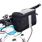 [page_title]-Betuy Fahrrad Lenkertasche Wasserdicht, 3.5L Fahrradtasche Handy Rahmentasche Gepäckträger Tasche mit Reflektierenden Streifen und PVC Touchscreen für MTB/Fahrrad Karte Telefon Wasserflasche