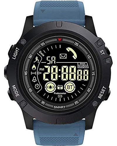 ROSEBEAR Herren-Sportuhr, digitale Militär-Uhr, Bluetooth 4.0, wasserdicht, stoßfest, Fitness-Tracker, LED-Armbanduhr mit Alarm, blau