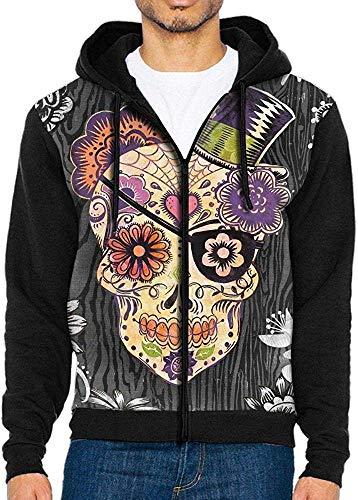 Vintage Sugar Skull Daisy Flowers Zip Up Hoodie Lightweight Pullovers Hooded Active Sweatshirts Hoodies