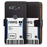 DeinDesign Étui Compatible avec Sony Xperia XZ2 Compact Étui Folio Étui magnétique NASA...