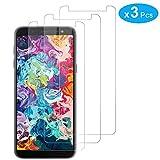 RIIMUHIR Protector De Pantalla De Vidrio Templado De 3 Paquetes para Samsung Galaxy J6 2018 Plus / J4 Plus Protector De Pantalla Anti-arañazos Protector De Pantalla Sin Burbujas