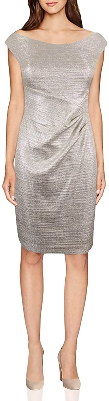 Lauren Ralph Lauren Women's Metallic Foil Sheath Dress