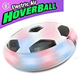 MICKYU LED Hover Soccer Ball - Floating Disk Soccer - Air Power Training Ball Playing Football Game - Soccer Toys 3 4 5 6 7 8-12 Year Old Kids Toys Best Gift