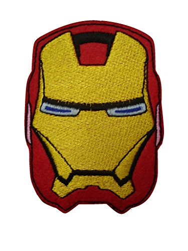 Superhero Iron On Patch (Lot of 2 pieces) Embroidered Applique Motif Fabric Comics Movie Decal 3.2 x 2.3 inches (8 x 5.8 cm)