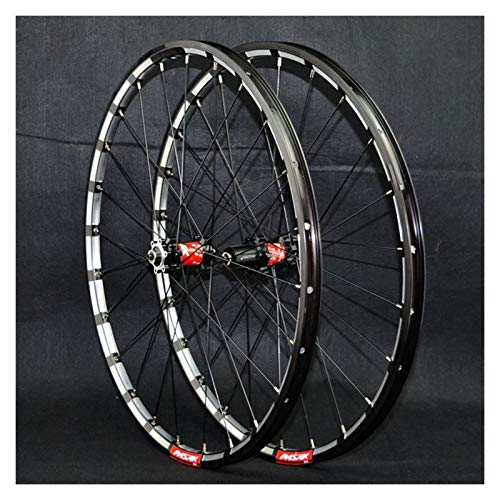 ZCXBHD MTB Wheelset 26/27.5inch Thru axle Mountain Bike Front + Rear Wheel Disc Brake Double Wall 7/8/9/10/11/12 Speed 24 Holes (Color : C, Size : 27.5in)