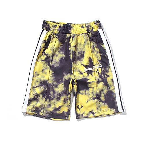 Getijdenmerk Zomer Heren en Dames Tie-dye Vrijetijdsshorts Strandshorts voor koppels, korte fitnessshorts, 90% katoen