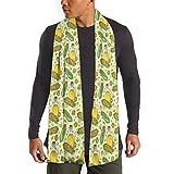 MoMo Patrón maíz Aceite de maíz Vector Hombres bufanda de la cachemira caliente sedoso - bufandas de algodón para el invierno