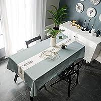 テーブルクロス 防水クッションカフェレストランのテーブルクロスを印刷する北欧の長いトロールのテーブルクロスのフルポリエステル緑の手紙 (Color : Green, Size : 135*160)