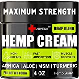 Powerful Ingredients: our hemp cream is enriched with natural ingredients: hemp oil, boswellia extract, aloe vera, emu oil, arnica montana, menthol, turmeric. Maximum Strength: our hemp cream helps with joints, elbows, neck, back, shoulders, fingers,...