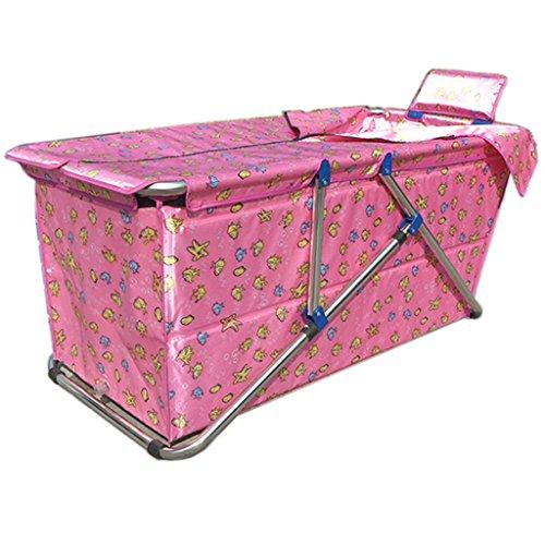 Baignoire pliable adulte épaississement des ménages Outsized portable pliant baignoire isolation durable facile à nettoyer enfant baignoire (Couleur : Pink)