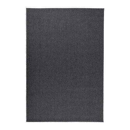 Ikea MORUM Teppich Flachgewebe Dunkelgrau In/Outdoor Dunkelgrau