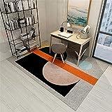 La alfombras alfombras Modernas Alfombra de Sala de Estar de Estilo geométrico Moderno Gris Negro Naranja comedores Modernos alfombras Alfombra habitación Matrimonio 160*200cm