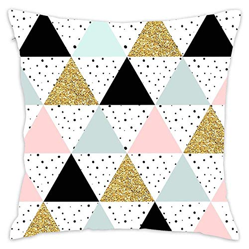 N\A Funda de Almohada geométrica Serendipity Scandinavian Blush and Mint Throw Pillow, decoración del hogar Funda de cojín Funda de Almohada Fundas de Almohada
