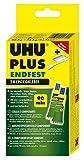 UHU 2-Komponentenkleber Plus Endfest, Glasklarer und höchst belastbarer 2K-Klebstoff, 163 g