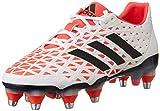 adidas Adipower Kakari SG, Zapatillas de Rugby para Hombre, Blanco (Ftwbla/Rojimp/Negbas), 51 1/3 EU