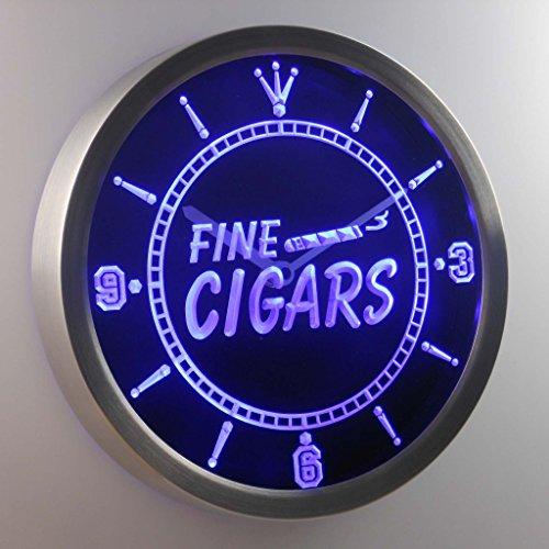 ADVPRO nc0330-b Fine Cigars Neon Sign LED Wall Clock