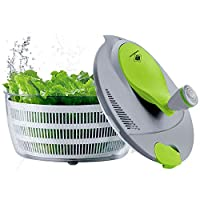 Kalokelvin, Centrifuga per insalata in plastica da 4 litri, facile da utilizzare, per lavare e asciugare le verdure