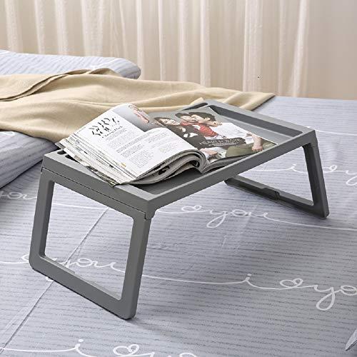 MUXAN Faltbarer Laptop-Tisch, tragbarer Laptop-Tisch, zusammenklappbar, für Schreibtisch, Bett, Sofa, Laptop-Ständer, zusammenklappbar grau