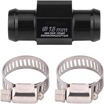 Kimiss Motorrad Wassertemperatur Temperatur Gemeinsame Rohr Schlauch Sensor Gauge Adapter 22mm Auto
