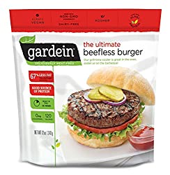 Gardein Ultimate Beefless Burger Meat Free Protein Packed Patties, Ready in 3 Minutes, 4 Pack (Froze