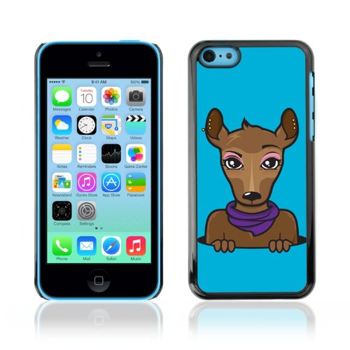 CelebrityCase Polycarbonate Hard Back Case Cover for Apple iPhone 5C ( Cute Deer )