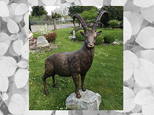 IDYL - Escultura de bronce, 190 x 40 x 135 cm, figura de animales de bronce hecha a mano, escultura de jardín o decoración, artesanía de alta calidad, resistente a la intemperie