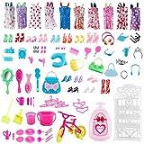 96 Piezas Ropa de Moda Zapatos y Accesorios para Las muñecas Doll, Incluyendo 10 los Vestidos, 56 Accesorios para Las muñecas Doll, para 11.5 Pulgadas 28-30 CM Muñecas