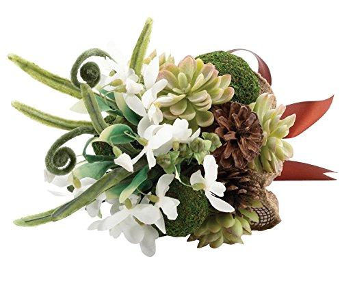 Lillian Rose Woodland Outdoor Wedding Moss Bouquet