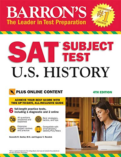 SAT Subject Test U.S. History with Online Tests (Barron\'s Sat Subject Test U.S. History)