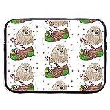 Cocker Spaniel Christmas 15 Inch Laptop Sleeve Bag - Estuche portátil para Tableta